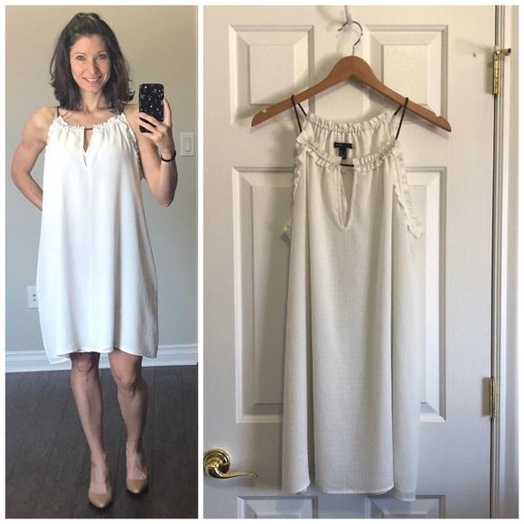 Mng Casual White Dress   Poshmark
